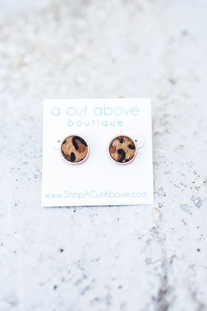 Leopard Stud - A Cut Above Boutique