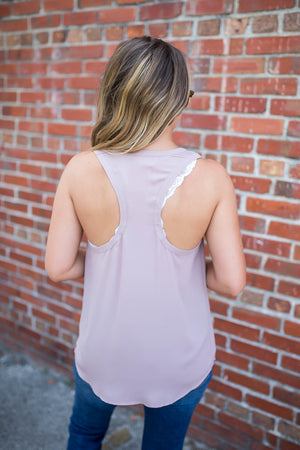 Everyday Pocket Tank - Mauve - A Cut Above Boutique