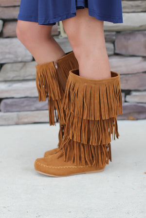 3 Layer Fringe Boot - A Cut Above Boutique