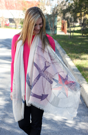 Cruising Along Scarf – Taupe - A Cut Above Boutique