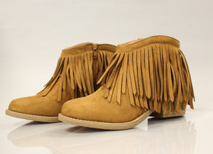 Spotlight Booties - Tan - A Cut Above Boutique