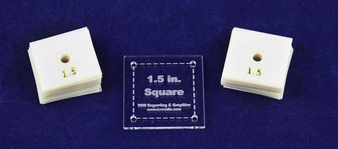 "Mylar 1.5"" Square 51 Piece Set - Quilting / Sewing Templates"