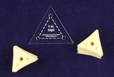 "Mylar 1"" High Equilateral Triangle 51 Piece Set - Quilting / Sewing Templates"