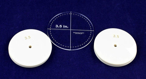 "3.5"" Circle 51 Piece Mylar Set - Quilting/Sewing Templates"