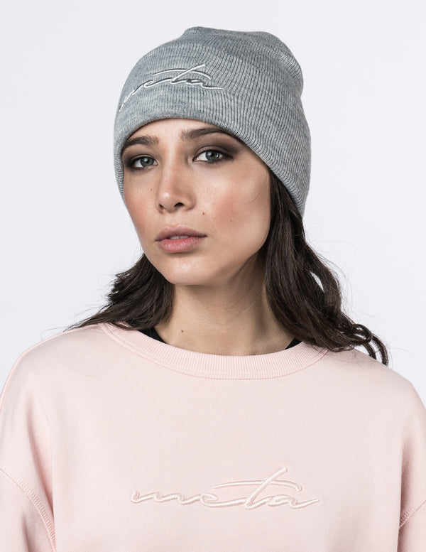 Script Beanie Heather Gray