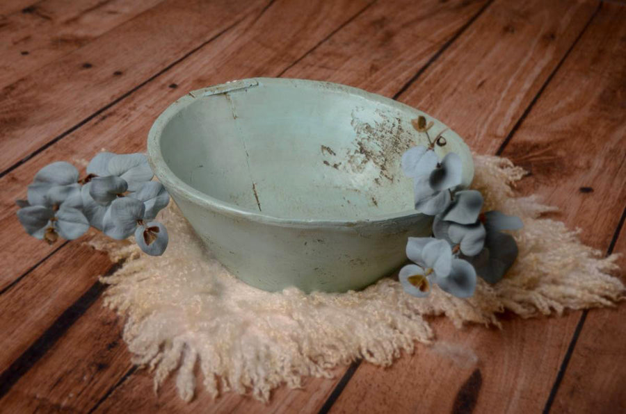 Vintage Bowl - Greenish Blue