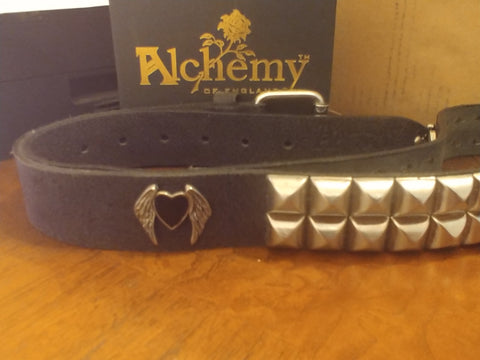 AJB3 - Teutonic Black Heart Belt by Alchemy Gothic - Very Rare