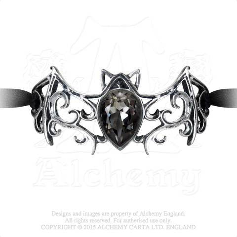 A108 - Viennese Nights Ribbon Bracelet With Swarovski Crystal by Alchemy of England