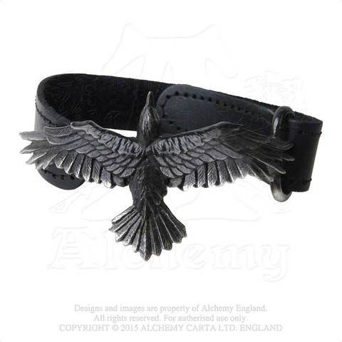 A109 - Black Consort Leather Wriststrap by Alchemy of England