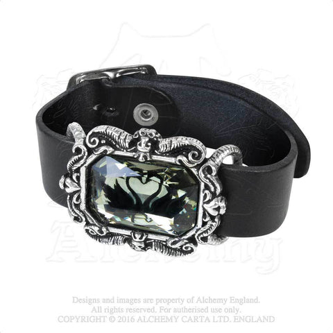 A110 - Black Swan Wriststrap by Alchemy of England