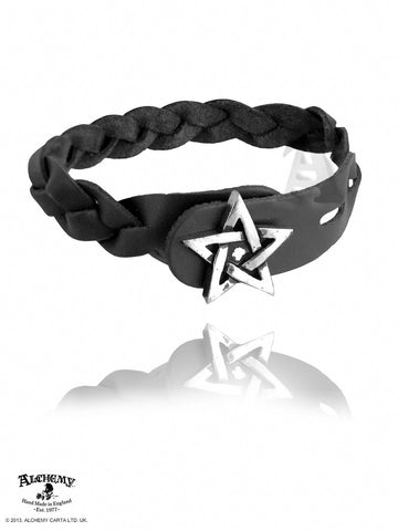 A37 - Pentagram- Gaelic Plait Bracelet by Alchemy of England