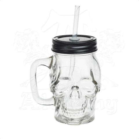 AGJ1 - Glass Skull Drinking Jar by Alchemy of England - New