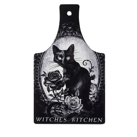 CT4 - Black Cat Witch's Kitchen Ceramic Chopping Board by Alchemy of England
