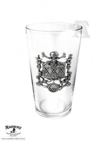 CWT48 - XXX Black Rose Ale Glass by Alchemy of England