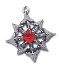 Chaos Star English Pewter Earrings by Alchemy Gothic - Rare