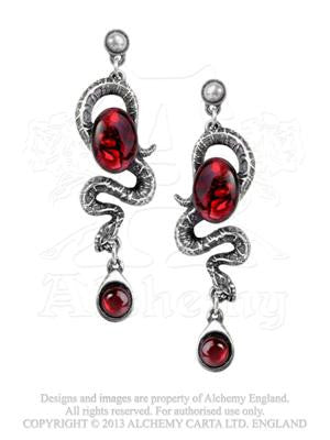 E336 - Serpents Eye Earrings by Alchemy Gothic
