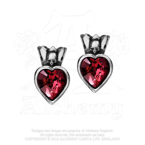 E379 - Claddagh Heart Earstuds by Alchemy of England - New