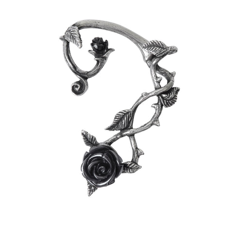 E410 - Black Rose Ear Wrap by Alchemy of England