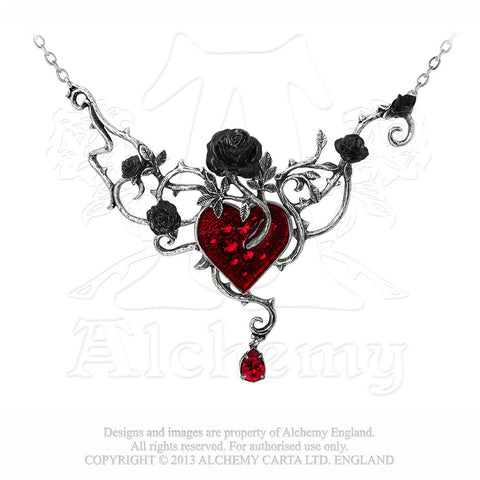 P630 - Bed Of Blood-Roses Necklace by Alchemy of England