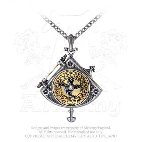 P670 - Enlightenment: Astral Dragon Quadrant Locket by Alchemy Steampunk