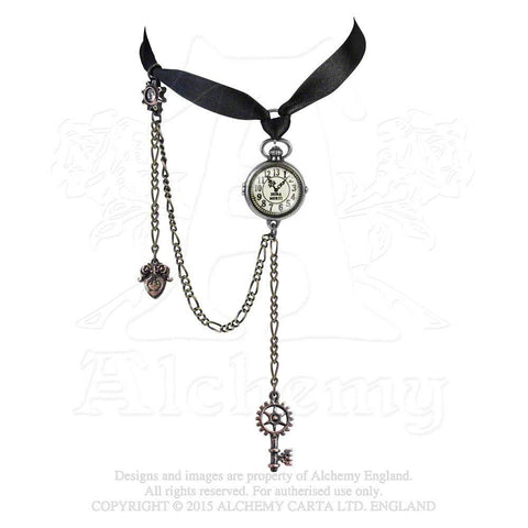 P729 - Uncle Albert''s Timepiece Steampunk Choker by Alchemy of England
