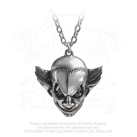 P784 - M'era Luna Evil Clown Pendant by Alchemy of England - New