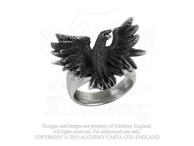 R197 - Flocking Raven Ring by Alchemy of England