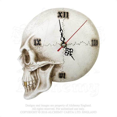 V32 - Skull Wall Clock by Alchemy of England