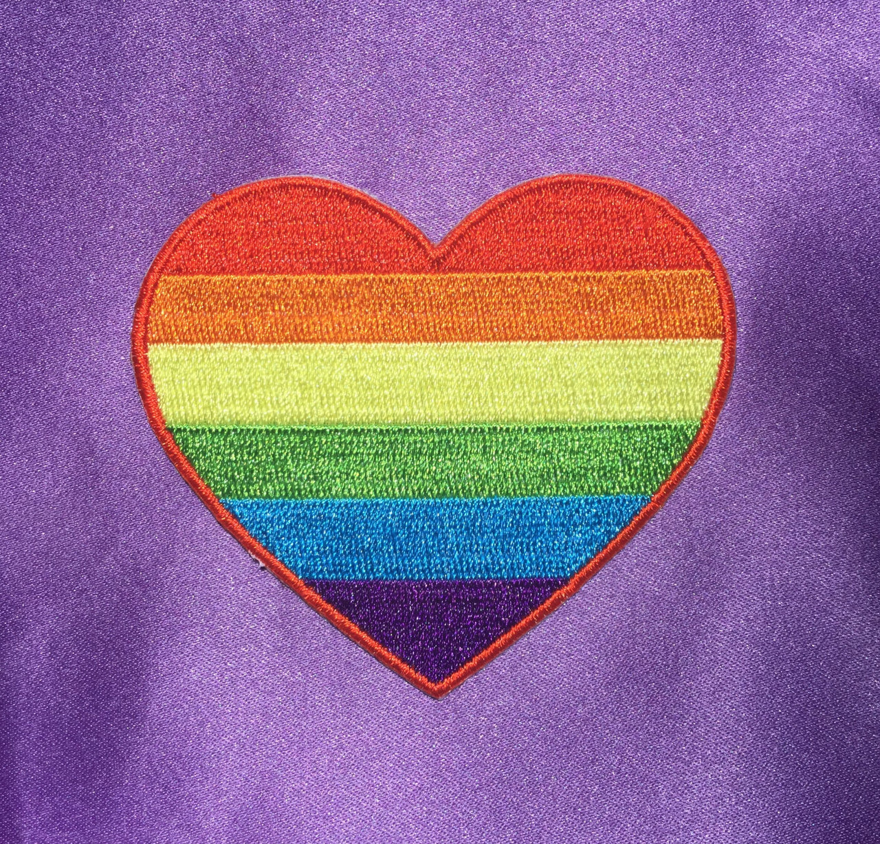 Rainbow heart sticker patch - Radical Buttons