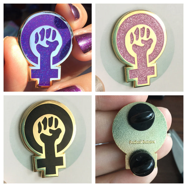 Black feminism enamel pin - Radical Buttons