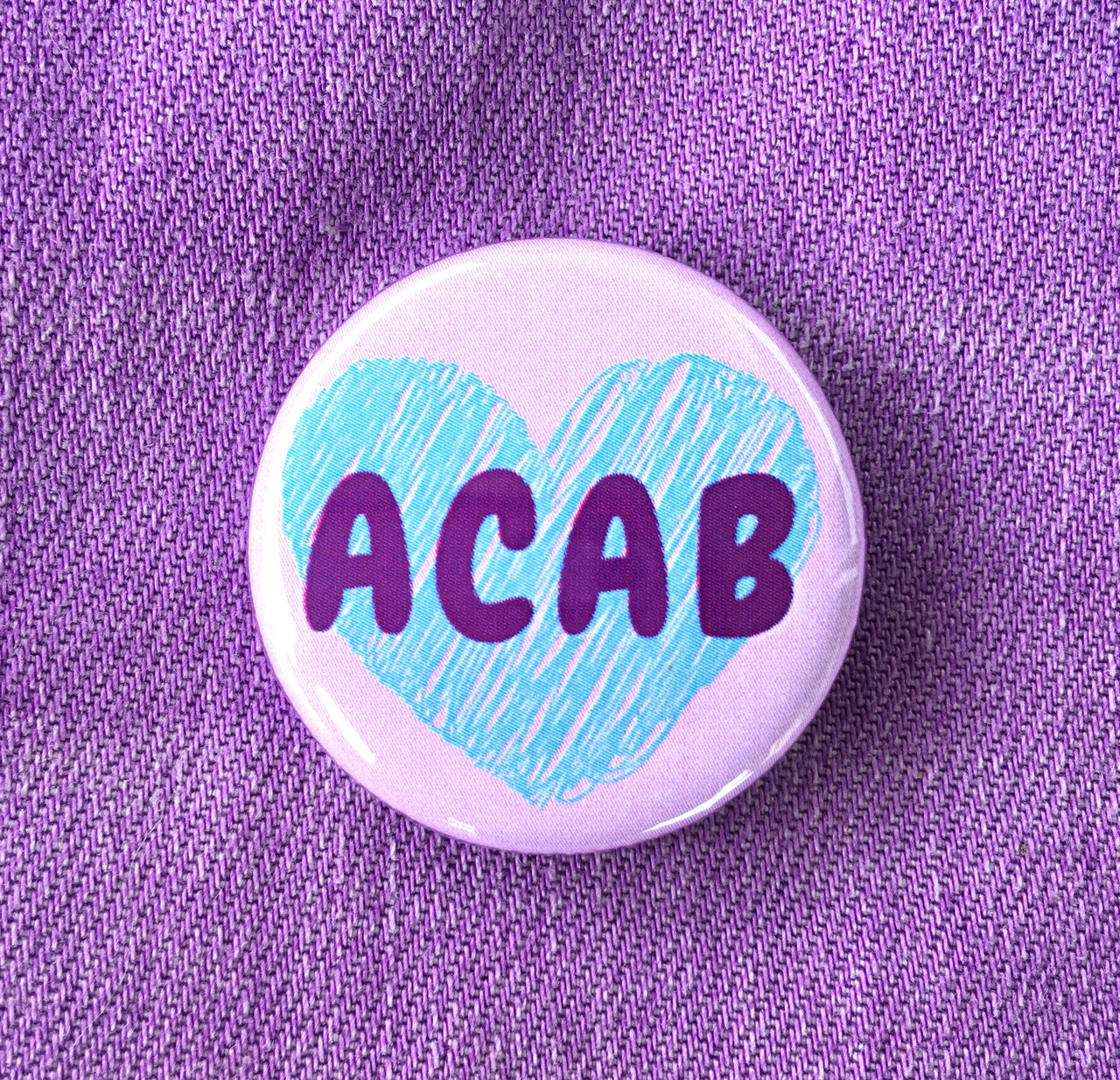 ACAB button - Radical Buttons