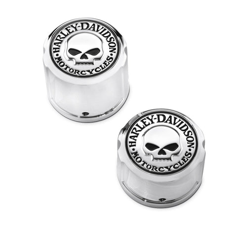 Harley-Davidson Willie G. Skull Rear Axle Nut Covers - Softail 43221-08
