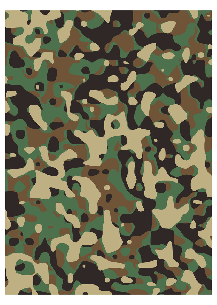 Camouflage Army Designer Print - A4
