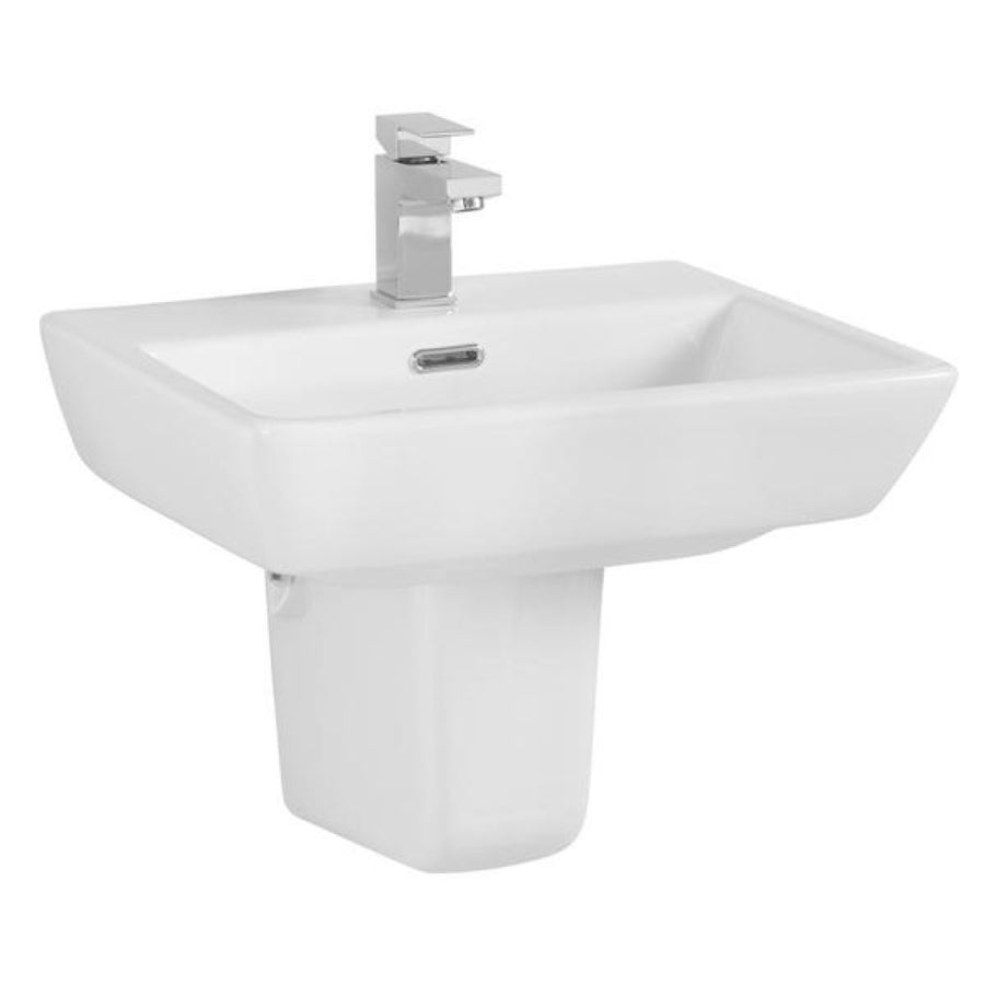 Cassellie Daisy Lou Basin - Semi Pedestal - 520mm Wide - 1 Tap Hole - EverythingBathroom.co.uk