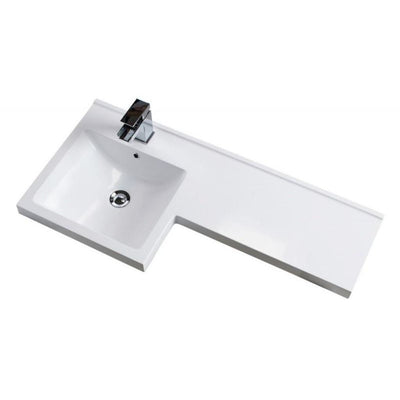 Cassellie Maze Compact L-Shaped Basin & WC Unit in Gloss White - EverythingBathroom.co.uk