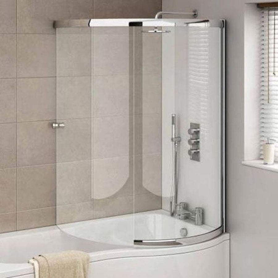 Cassellie Orbital Curved Bath Screen - Right Handed - Chrome