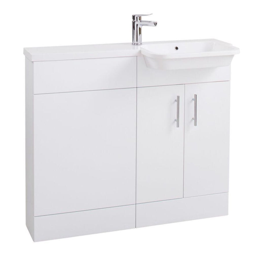 Cassellie Ria Combination Unit - 1000mm Wide - Gloss White