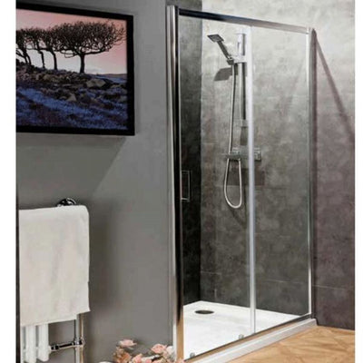 Cassellie Seis Sliding Shower Door - 6mm Glass - EverythingBathroom.co.uk