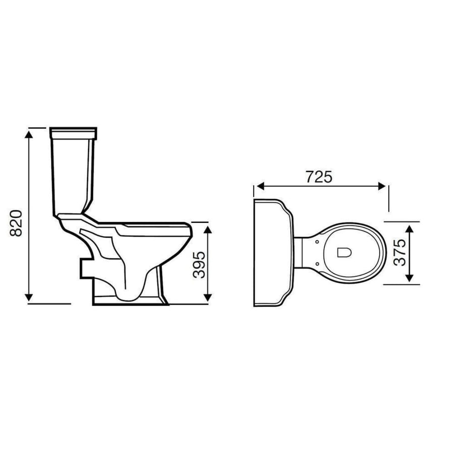 Kartell Astley Close Coupled WC- Cistern - Soft Close Seat