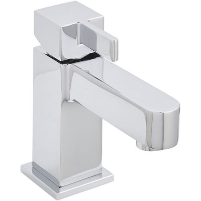 Kartell Eton Mini Mono Basin Mixer With Click Waste - EverythingBathroom.co.uk