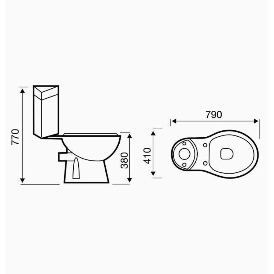 Kartell G4k Close Coupled Corner Cistern - EverythingBathroom.co.uk