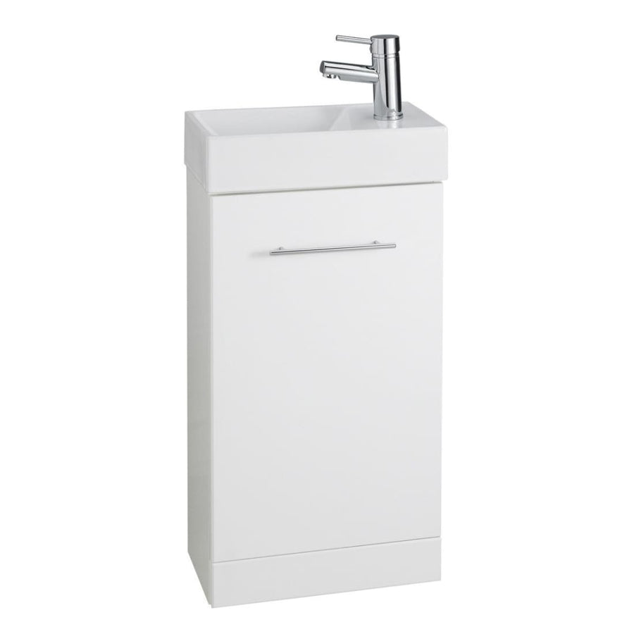 Kartell Impakt White Cube Cloakroom Unit with Basin - EverythingBathroom.co.uk