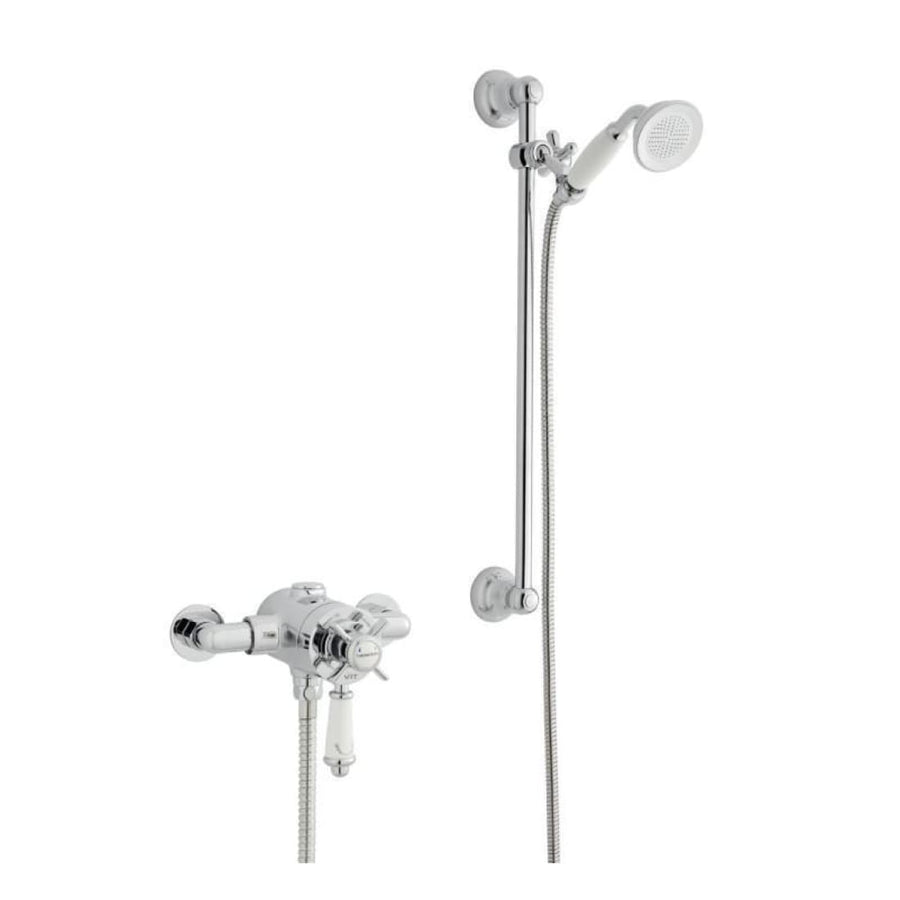 Kartell Klassique Option 4 Thermostatic Exposed Shower with Adjustable Slide Rail Kit