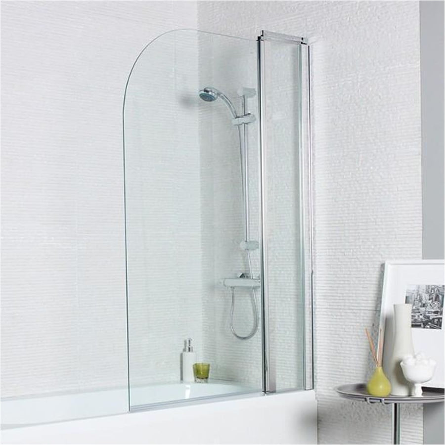Kartell Koncept Straight Screen, Radius Edge with Extension Panel