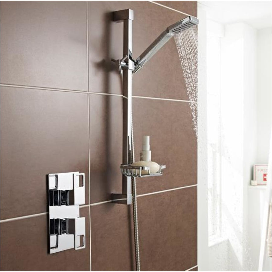 Kartell Kourt 1 Thermostatic Concealed Shower with Slide Rail Kit