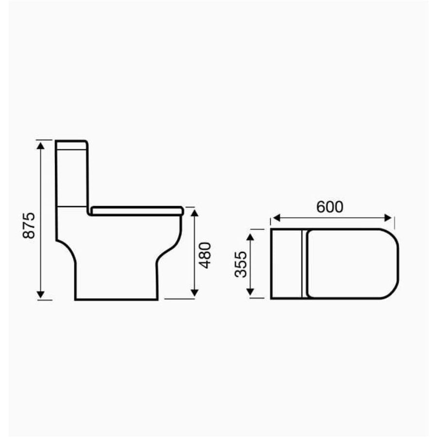 Kartell Options 600 - Comfort Height WC