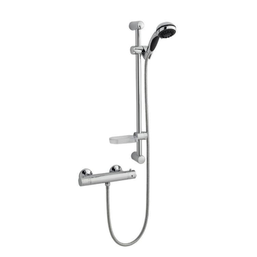Kartell Plan 5 Thermostatic Exposed Bar Shower with Slide Rail Kit