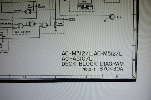 AKAI AC-A510 AC-A510L AC-M312 AC-M312L AC-M512 AC-M512L STEREO HIFI MUSIC SYSTEM SCHEMATIC DIAGRAMS 24 PAGES ENG