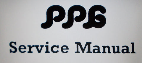 PPG WAVE 2.3 DIGITAL SYNTHESIZER SERVICE MANUAL  INC SCHEMS AND POWER SUPPLY PART LIST 38 PAGES ENG
