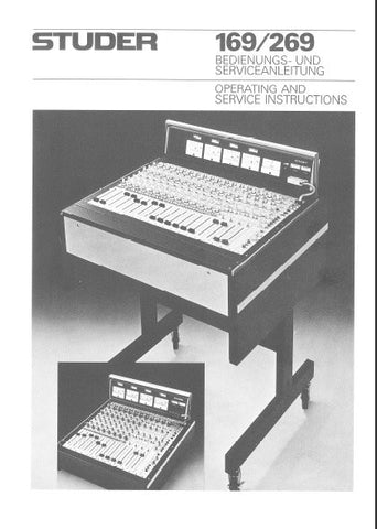 STUDER REVOX 169 269 MIXING CONSOLE OPERATING AND SERVICE INSTRUCTIONS INC BLK DIAGS SCHEMS PCBS AND PARTS LIST 258 PAGES ENG DEUT